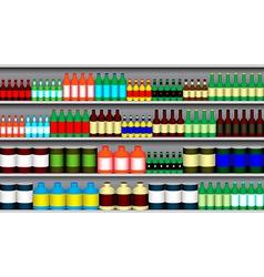 Supermarket shelves vector