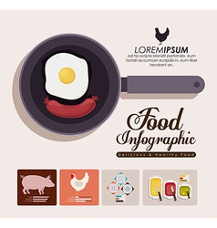 Food infographic design vector