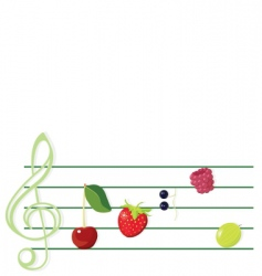 Music and berries vector