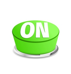 Turn on button sign template green vector