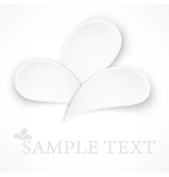 Petal design elements on white vector