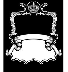 Royal crown vintage vector