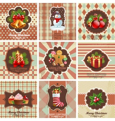 Christmas vintage backgrounds vector