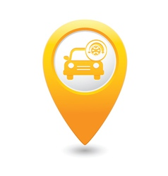 Car with air conditioner icon pointer yellow vector