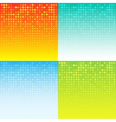 Set of colorful abstract halftone background vector