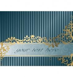 Vintage victorian banner horizontal vector