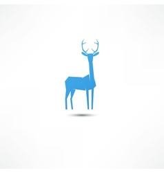 Deer icon vector