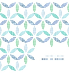 Abstract textile blue green leaves frame corner vector
