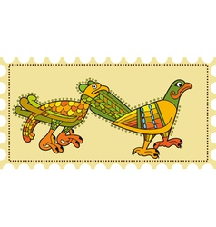Birds postage vector