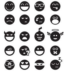 Black smiles vector