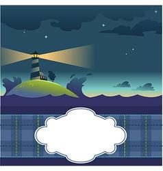 Card with lighthouse vector