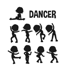 Different dancer poses vector
