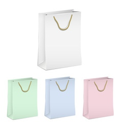 Empty shopping paper bags vector