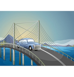 A car on the road vector