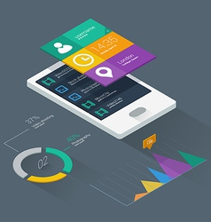 Mobile application concept vector