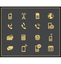 Mobile account management icons vector