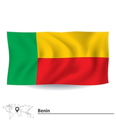 Flag of benin vector