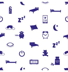 Sleeping time blue icons seamless pattern eps10 vector