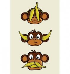 Three wise monkeys vector