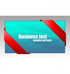 New red corner business ribbon vector