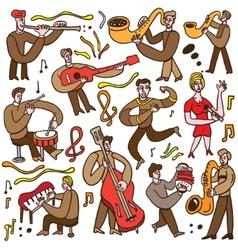 Musicians - cartoons set vector