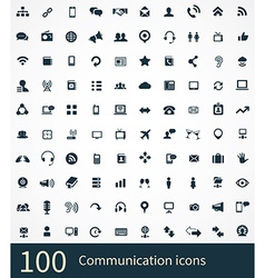 100 communication icons vector