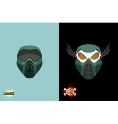Paintball mortal mask vector