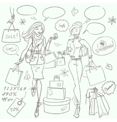 Fashion and beauty hand drawn collection vector
