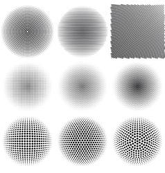Radial patterns vector