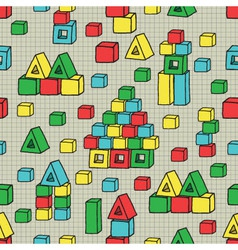 Seamless pattern with cubes vector