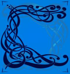 Twiddle interwoven scroll design vector
