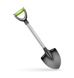 Garden spade isolated on white background vector