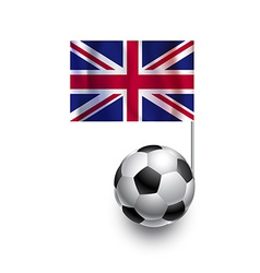 Soccer balls footballs with flag of united kingdom vector