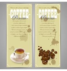 Coffee menu design vector