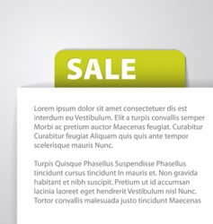 Sale tag foreign text vector