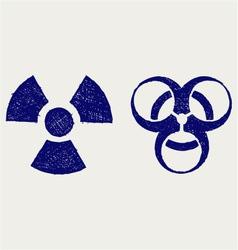 Radioactive and biohazard vector