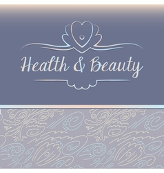 Logo depicting shells and pearls health and beauty vector