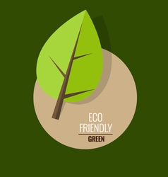 Nature banner ecology concept with tree background vector
