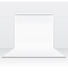 White paper studio backdrop vector