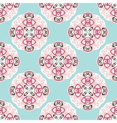 Seamless pattern circles abstract ornament vector