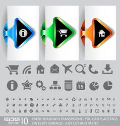 Website ux icons vector