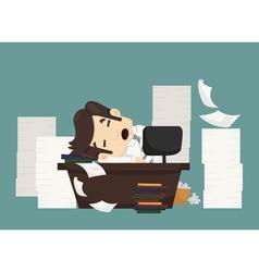 Businessman sleeping vector