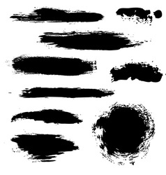 Black blobs set vector