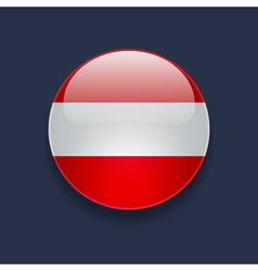 Round icon with flag of austria vector