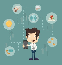 Businessman communication technology vector