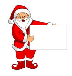 Santa claus with blank paper vector