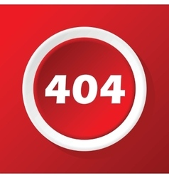 404 icon on red vector