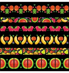 Fruity juicy patterns vector