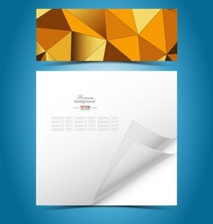 Mosaic gradient geometric background with vector