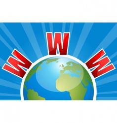 Www on globe vector